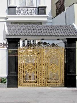 Cổng nhôm đúc 012