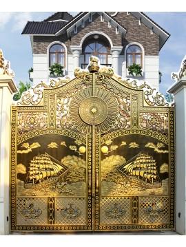 Cổng nhôm đúc Thuận buồm xuôi gió